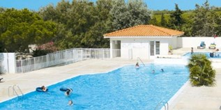 Luxuscamping - Canet en Roussillon - Mobilheim Relax Plus 6 Personen 3 Schlafzimmer von Canvas auf Camping Fontaines