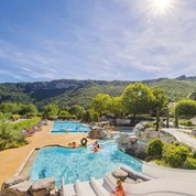 Luxuscamping - Swimmingpool - Aveyron - Mobilheim Cosy 6 Personen 2 Schlafzimmer von Canvas auf Camping Val de Cantobre