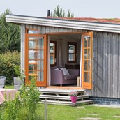 Luxuscamping: Ecochalet auf Camping 't Weergors