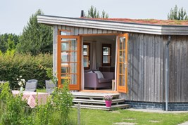 Luxuscamping - W-Lan - Südholland - Ecochalet auf Camping 't Weergors
