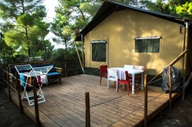 Luxuscamping - W-Lan - Lucca - Pisa - Lodgezelt Glamour auf Camping Le Pianacce