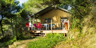 Luxuscamping - Swimmingpool - Lucca - Pisa - Lodgezelt Glids auf Camping Le Pianacce