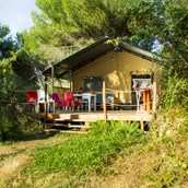 Luxuscamping: Glids glamping Zelt - Lodgezelt Glids auf Camping Le Pianacce
