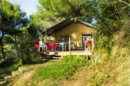 Luxuscamping - W-Lan - Lucca - Pisa - Lodgezelt Glids auf Camping Le Pianacce