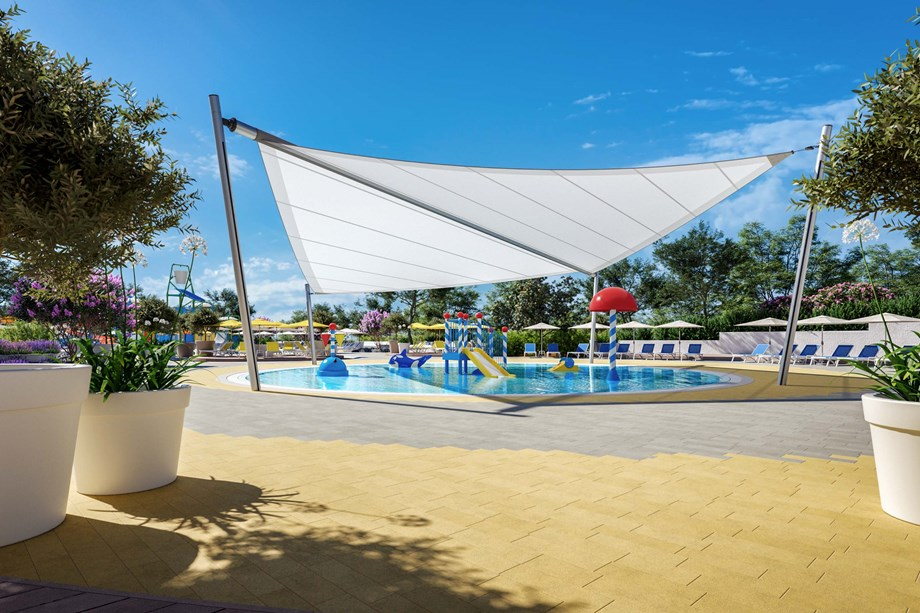 Glampingunterkunft: Baby pool