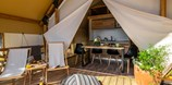 Luxuscamping - W-Lan - Pula - Two bedroom safari tent auf dem Arena One 99 Glamping
