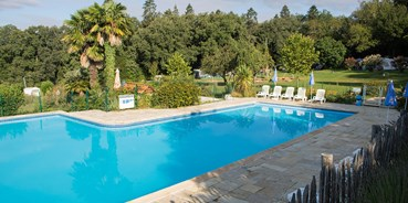 Luxuscamping - Sarlat-la-Canéda - Villatent Luxe auf Camping Lestaubiere