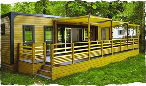 Luxuscamping - WC - Finistère - Luxus-Mobilheim Aspect mit drei Schlafzimmern am Camping Les Deux Fontaines